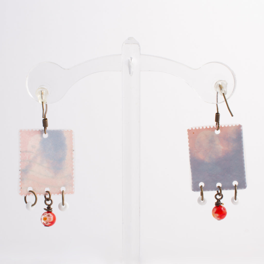 Stamp Collection Earrings | Red