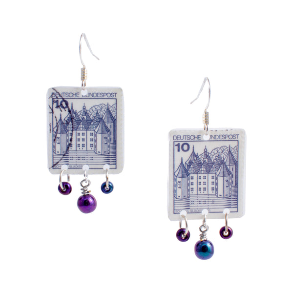 Stamp Collection Earrings | Blue