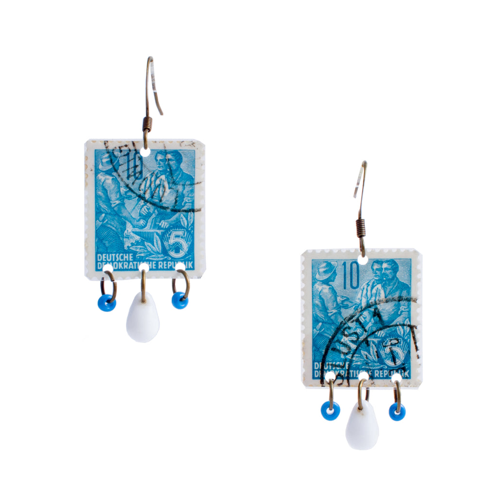 Stamp Collection Earrings | Turquoise