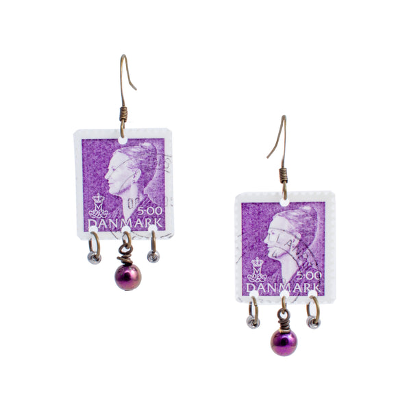 Stamp Collection Earrings | Purple