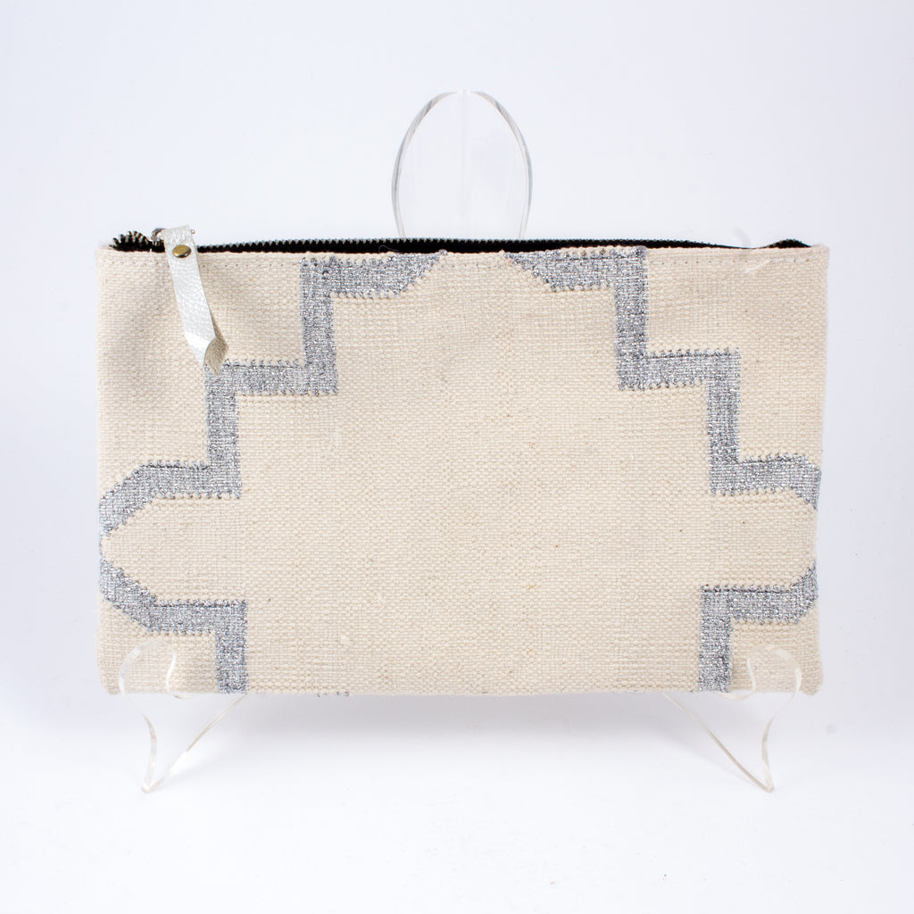 Indian Cotton Dhurrie Rug Clutches - Small