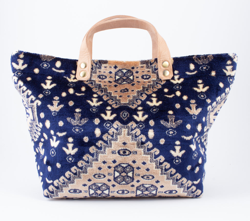 Handmade Lalla Walakin Carpet Totes from Marrakech