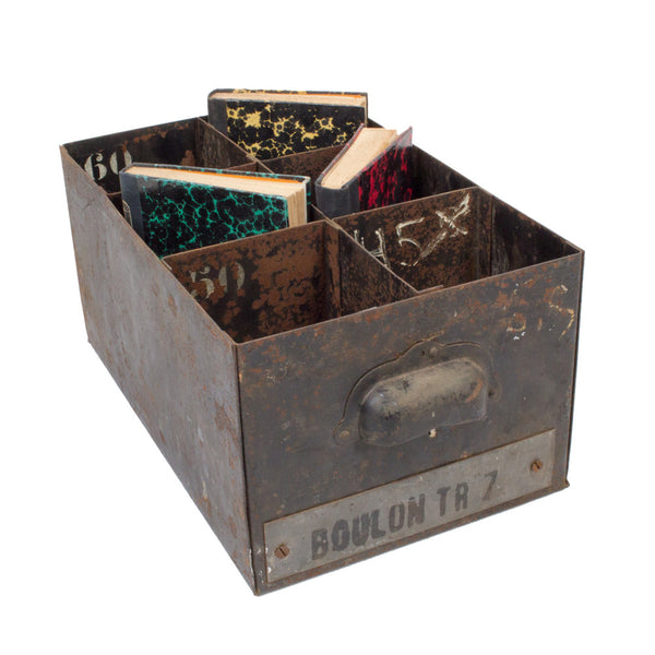 1930s French Metal Divided Boxes