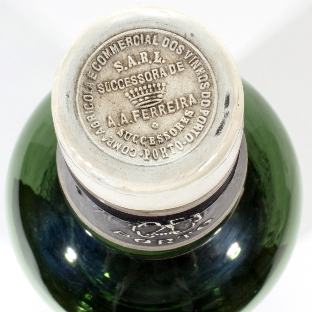Mid-Century Vert Glass Ferreira Porto Bottle