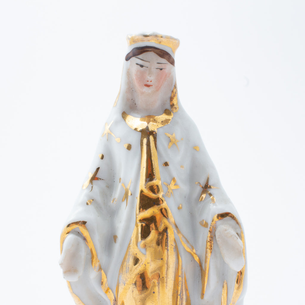 Vintage Porcelain Virgin Mary Statuette sourced in France