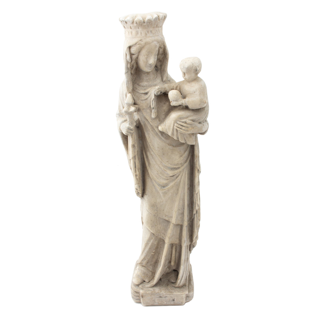 Antique French Religious Statue