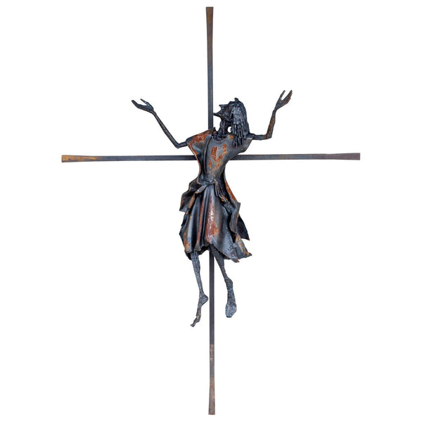 Vintage Handmade Belgian Iron Crucifix Art Found in Brussels