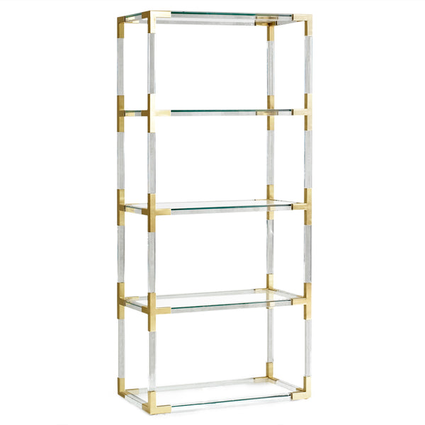 Jacques Brass and Acrylic Etegere from Jonathan Adler