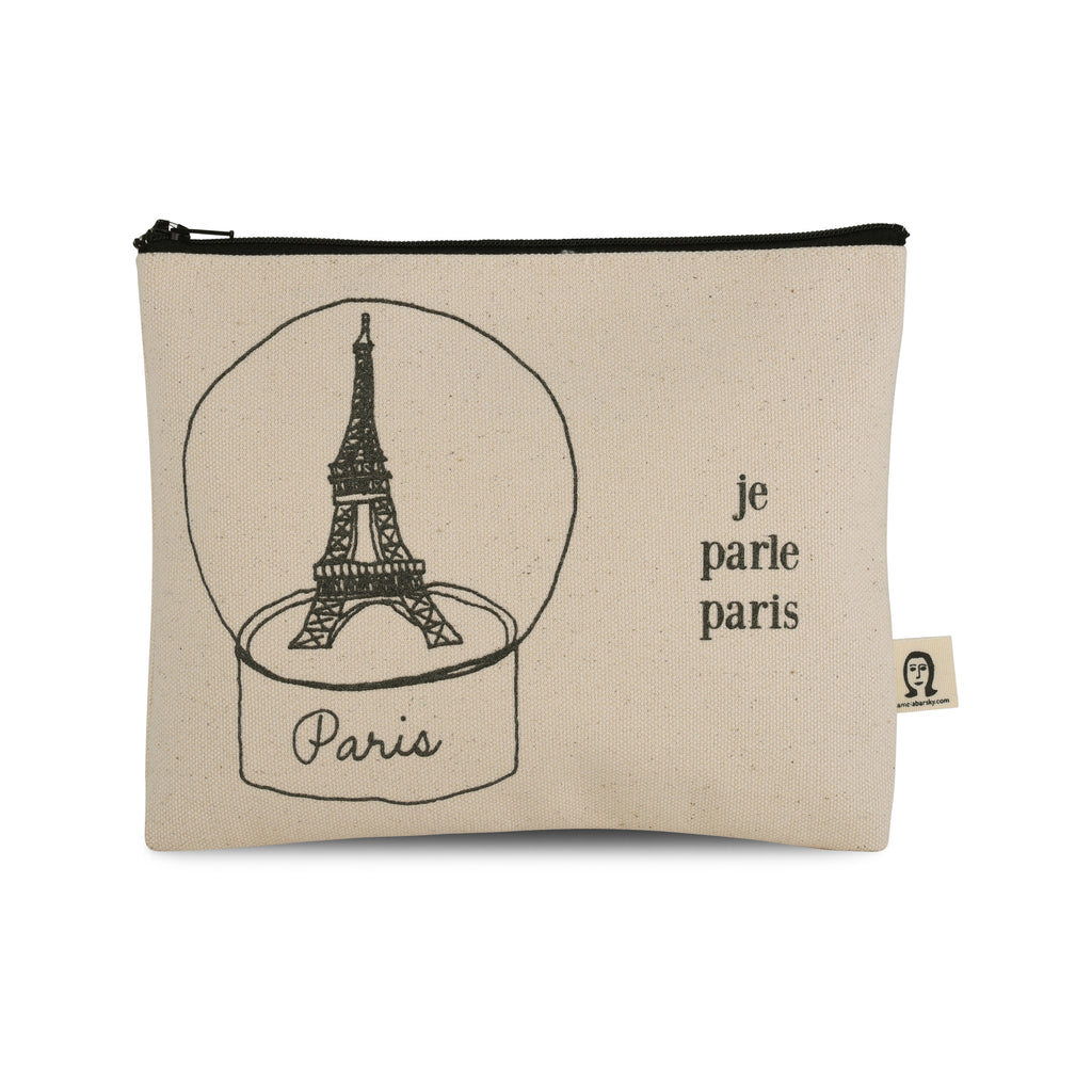 Je Parle Paris Canvas Printed Pouch