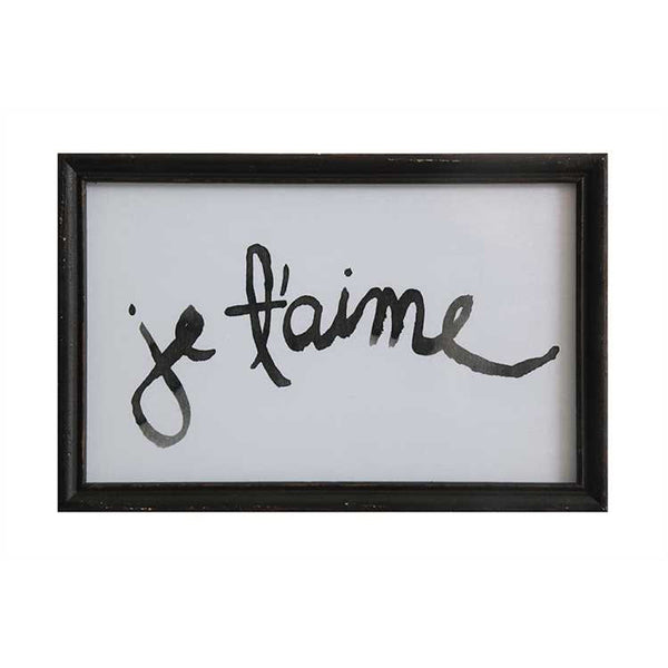 Je T'aime Framed Art