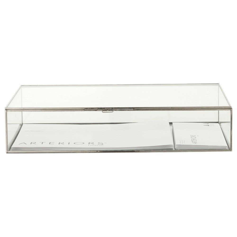 Glass & Polished Nickel Document Boxes