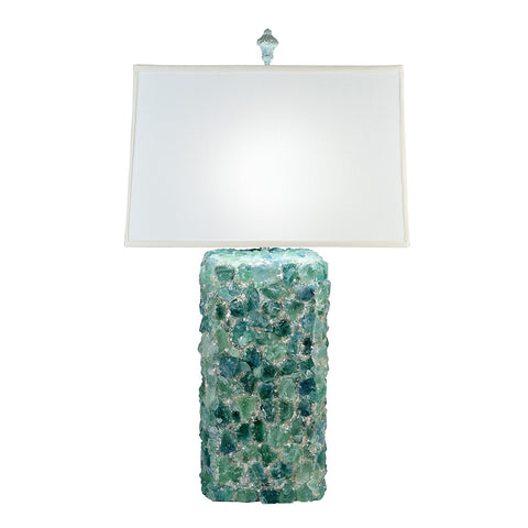 Green Fluorite Rock Crystal Lamp
