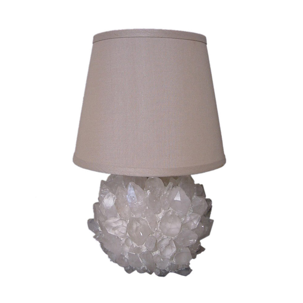 Round Quartz Crystal Accent Lamp
