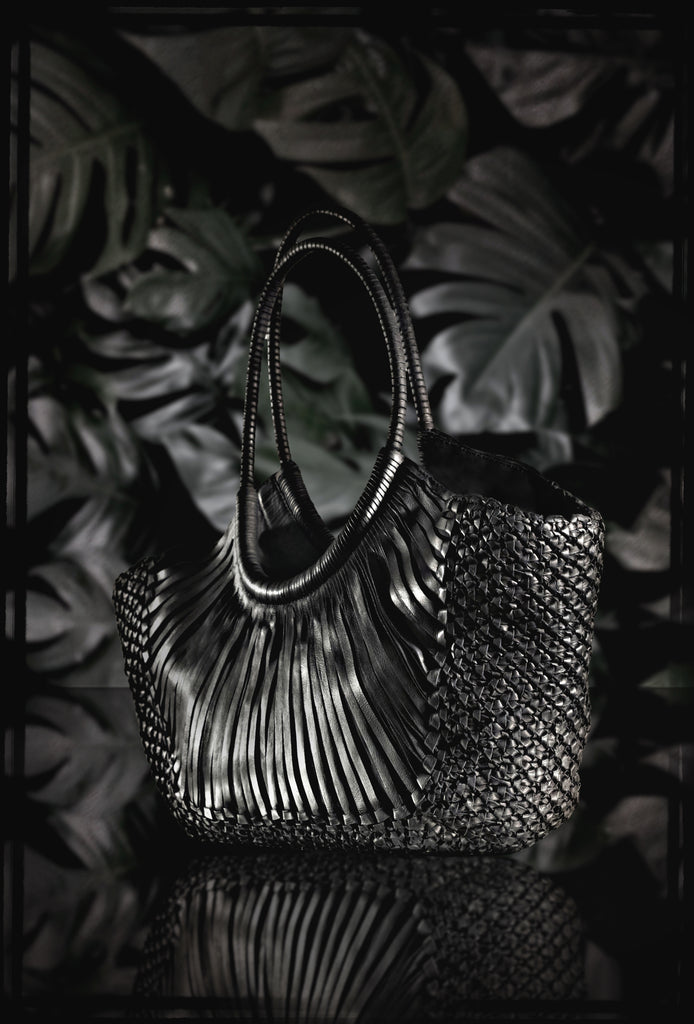 "Woven Leather ""Kenia"" Classic Bag by Federico Nardini"