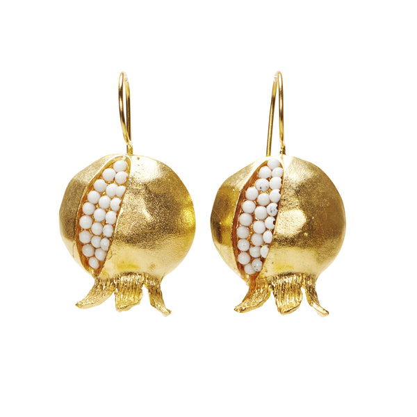 Gold Pomegranate Granada Earrings