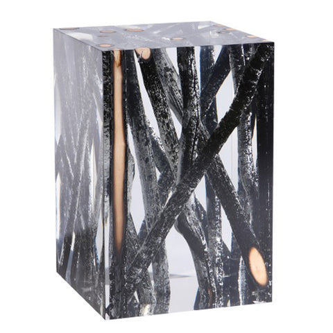 Acrylic Glass Kisimi Hekla Side Table & Stool