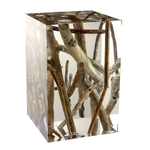 Acrylic Glass Kisimi Side Table & Stool
