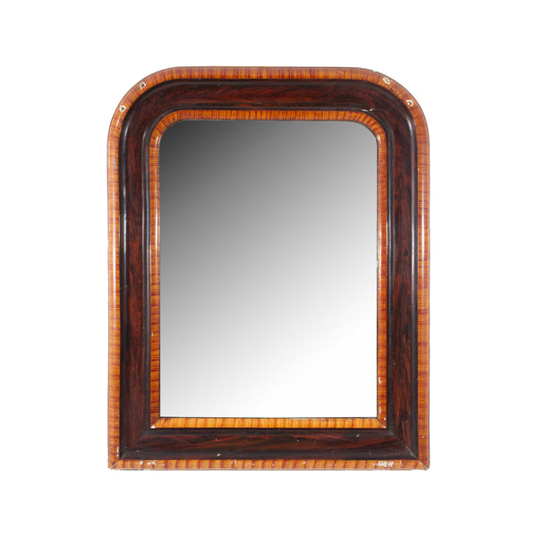Small Antique French Painted Louis Philippe Mirror