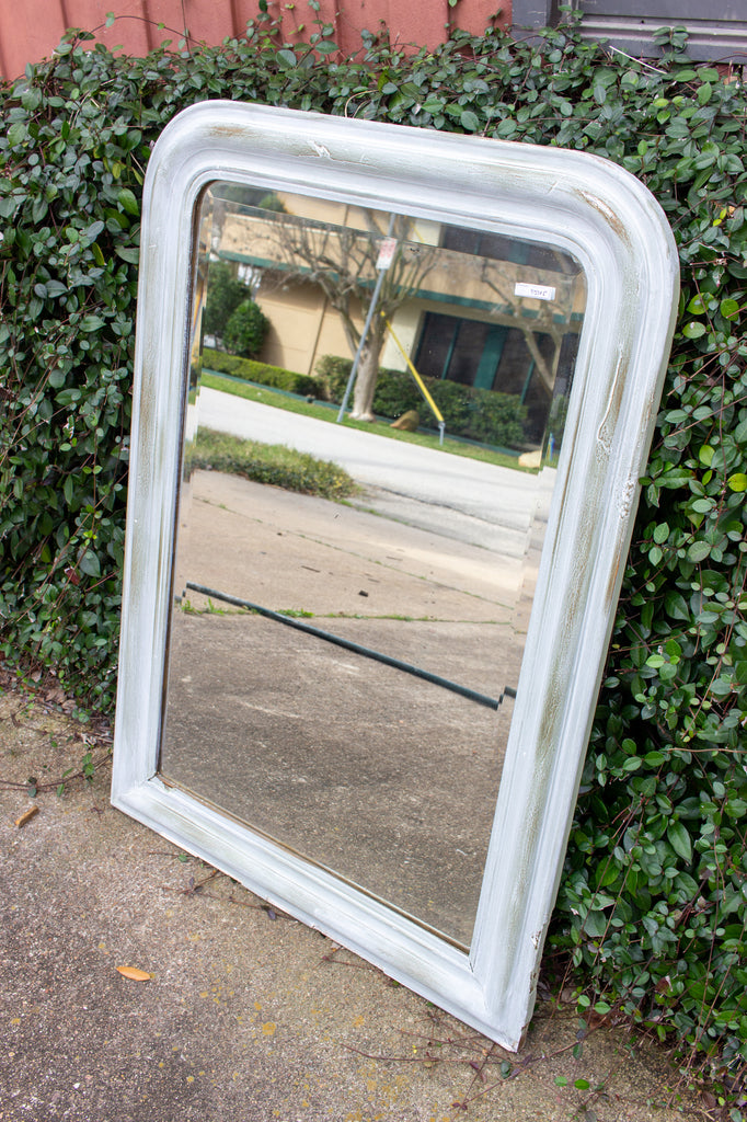 Antique French Painted Louis Philippe Mirror with Beveled Glass