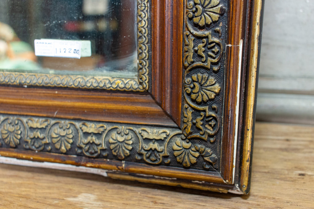 Antique French Louis Philippe Mirror with Gilt Edge and Original Glass