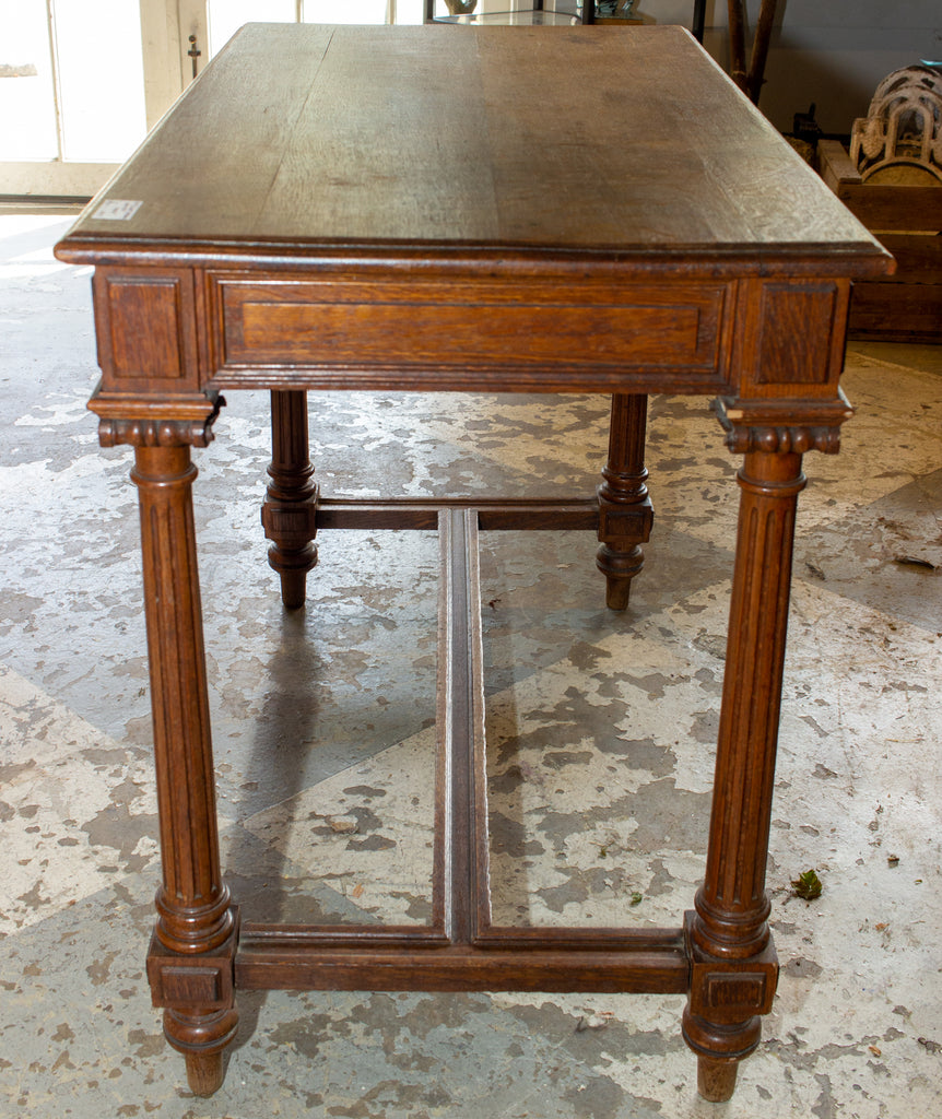 Antique French Carved Wood Empire Style Table ca. 1900