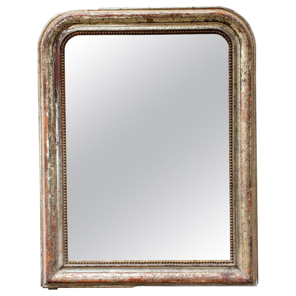 Patinated Antique French Louis Philippe Wall Mirror