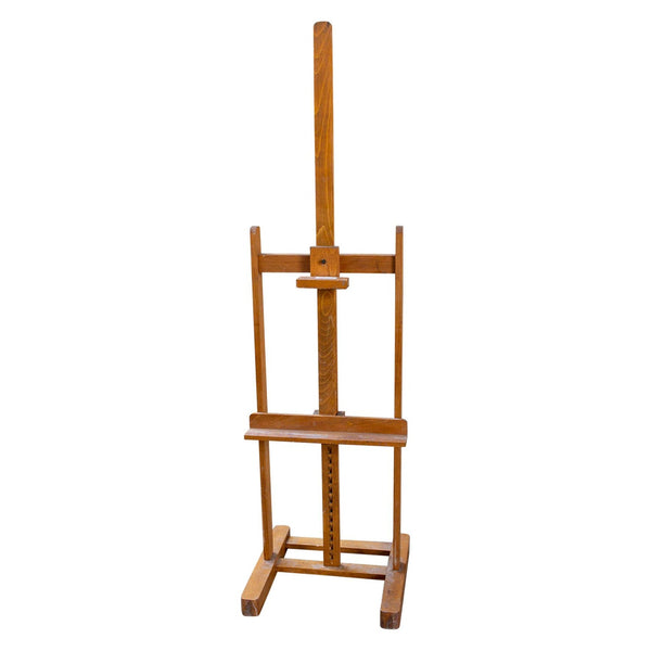 Large Vintage French Wood Floor Easel