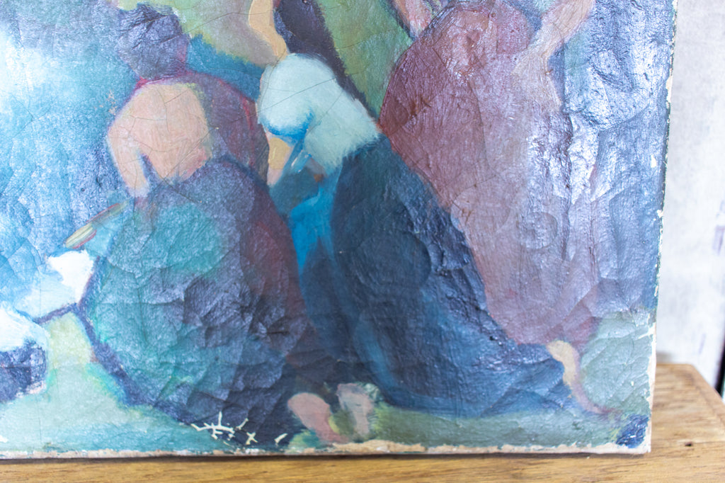 Antique French Impressionist Painting - Unframed