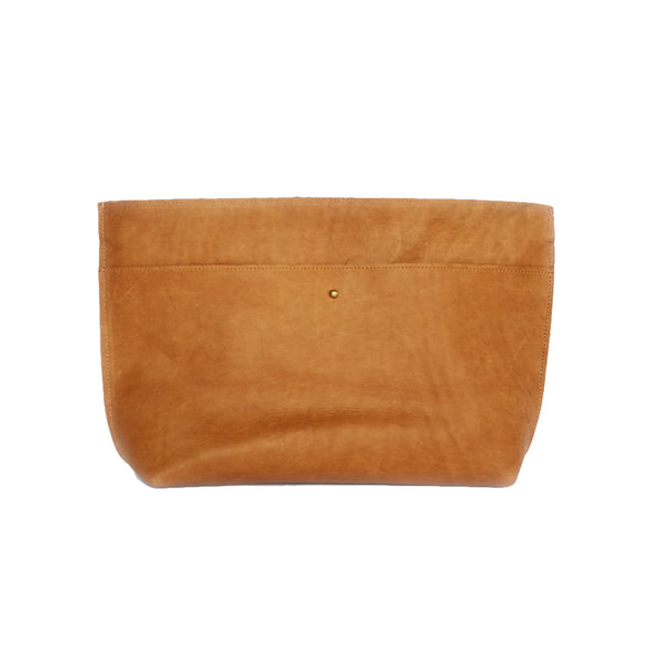 Kenyan Nubuck Leather Lona Clutch by Meyelo