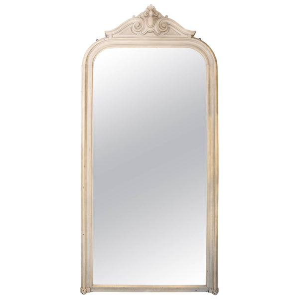 Antique Floor-Length Louis Philippe Mirror Found in France