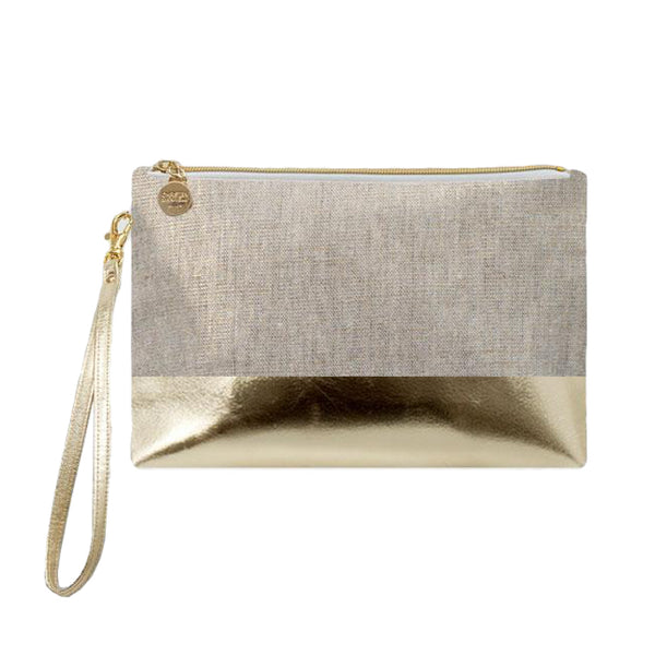 Havana Gold Colorblock Wristlet