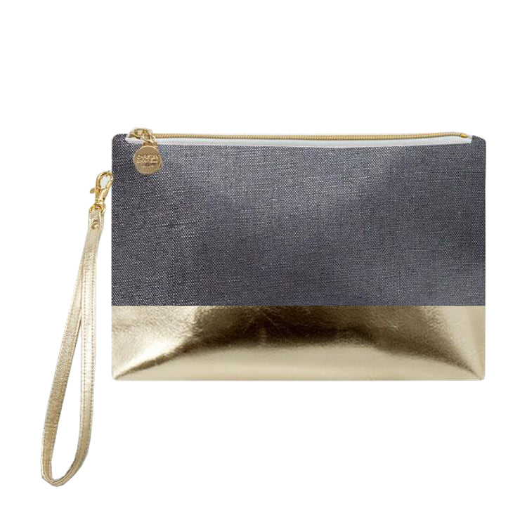 Oxford Gold Colorblock Wristlet