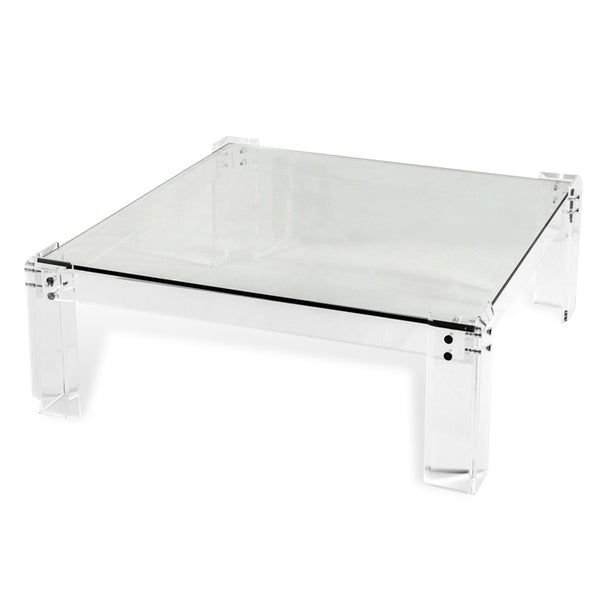 Gwenyth Acrylic & Glass Square Cocktail Table