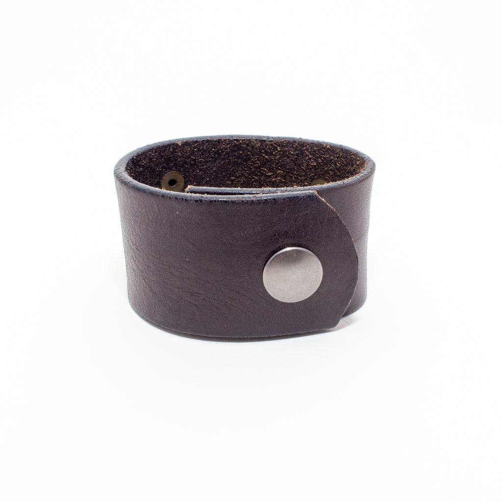 Handcrafted Leather & Metal Bee Cuff