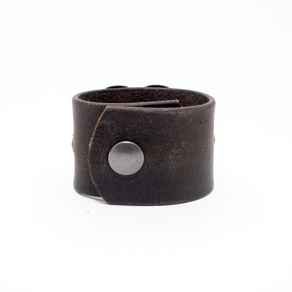 Handcrafted Leather & Metal Cuff