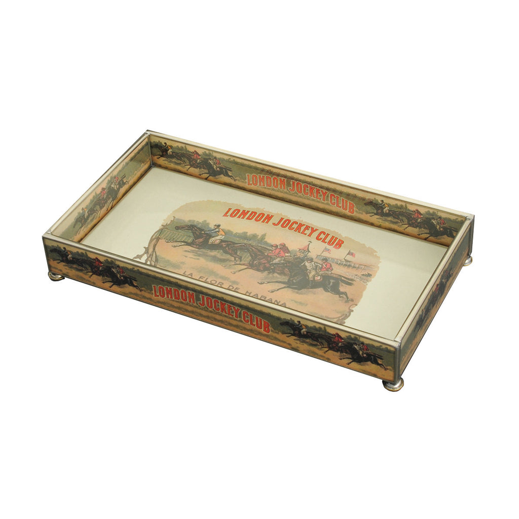 London Jockey Club Glass Tray