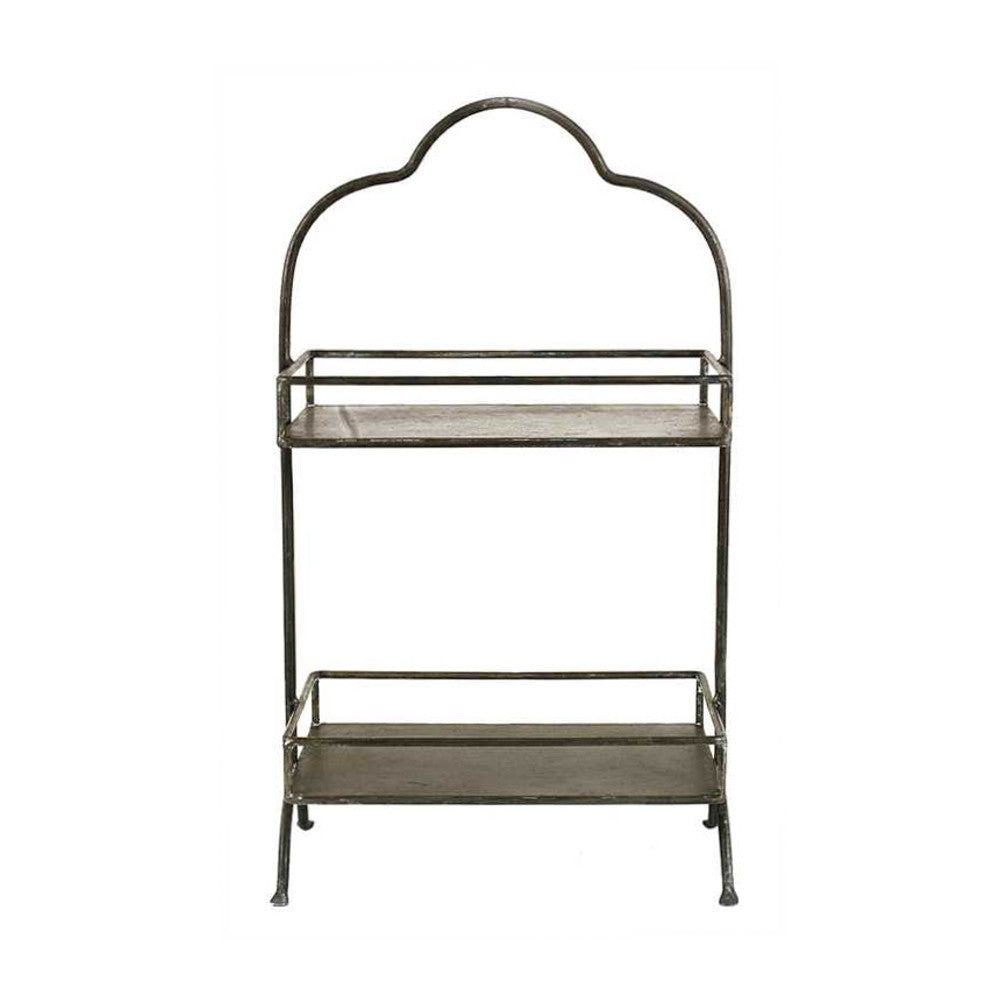 Metal Two-Tier Rectangular Tray