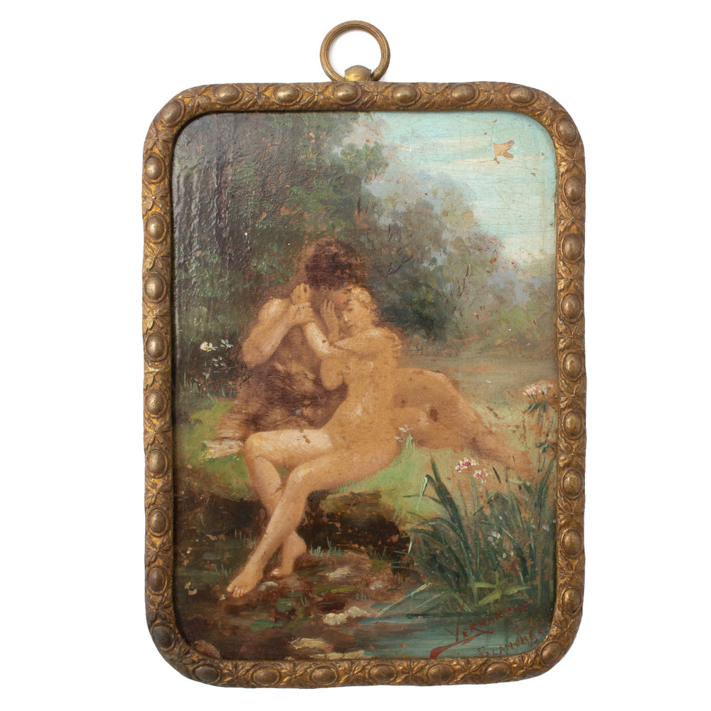 Antique Miniature French Painting