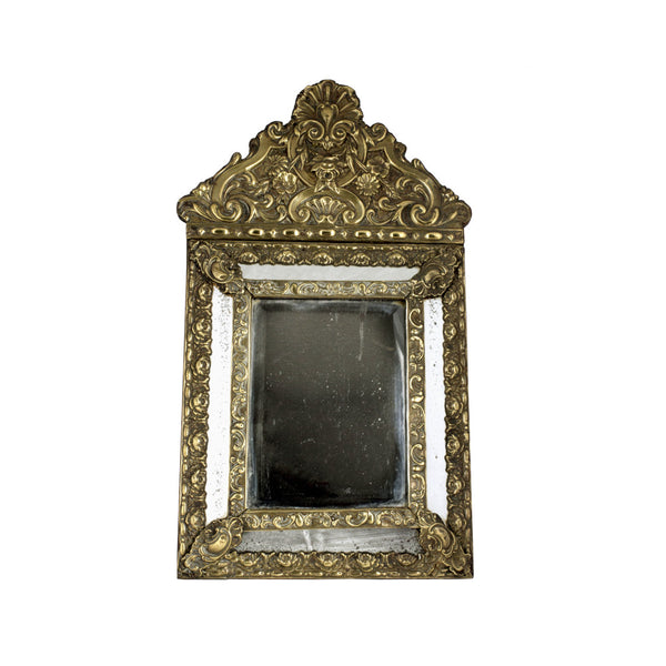 French Repoussé Gilt Louis XV Antique Mirror