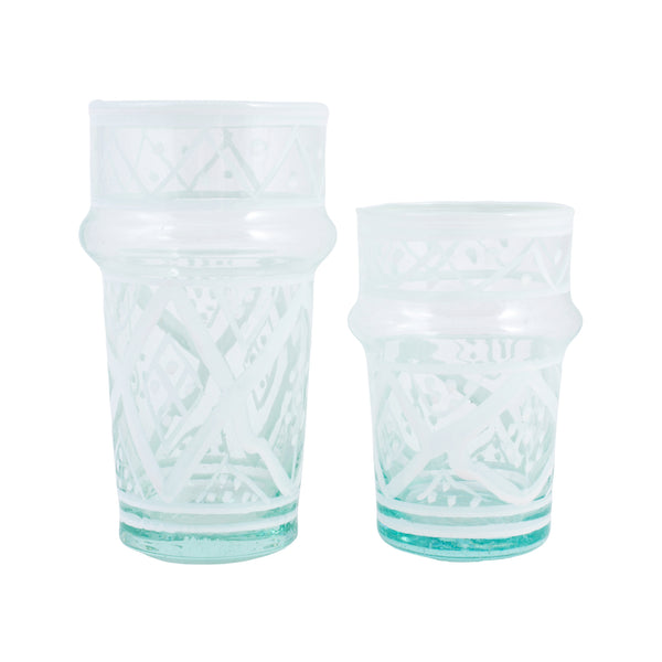 Hand-painted Moroccan Tea Glasses | Two Sizes