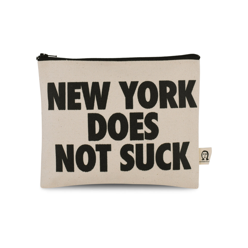 NY Does Not Suck Canvas Printed Pouch