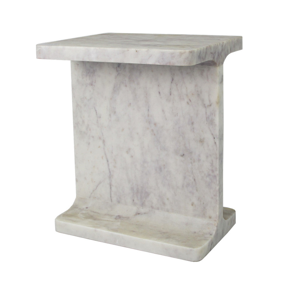 Marble Numeral Side Table