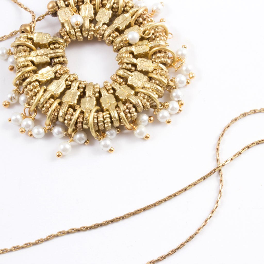 Oasis Necklace in Taupe - Handmade in Egypt
