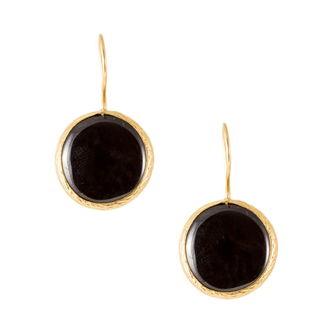 Turkish Delights Earrings: Onyx Rounds