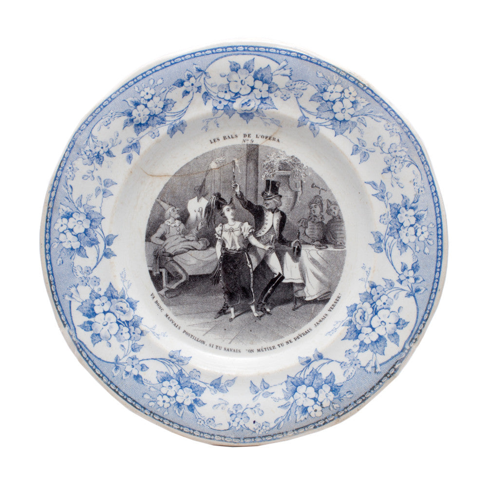 Antique Parisian Opera Plates - Set of 5