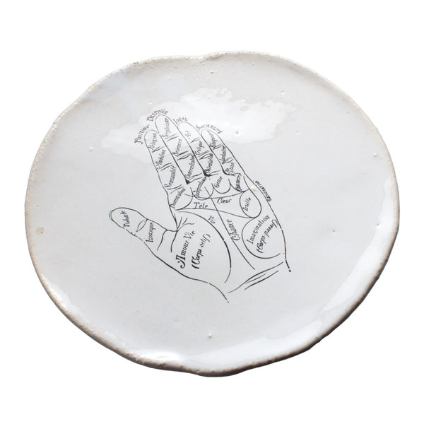 Kuhn Keramik Palm Reader Footed Plate