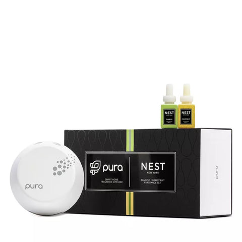Nest Pura Smart Home Fragrance Diffuser Set | Bamboo & Grapefruit