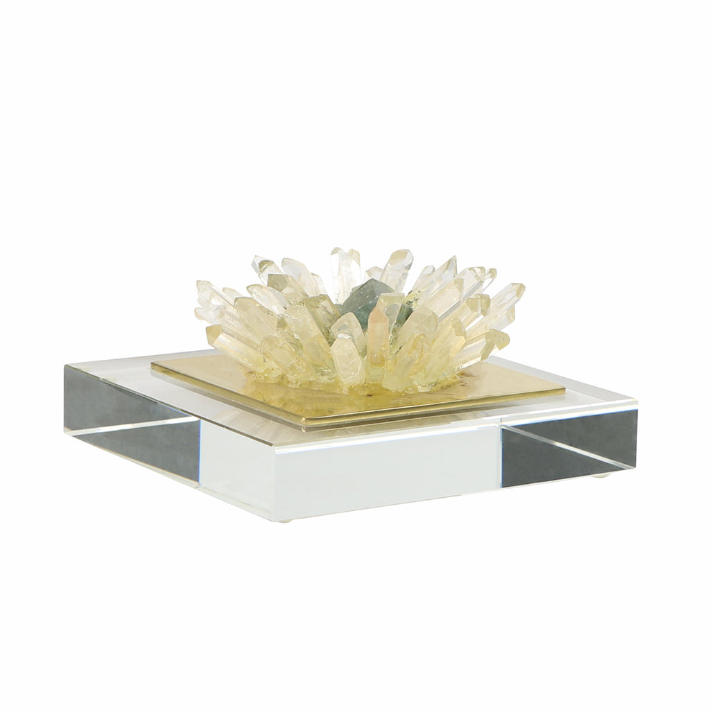 "Quartz ""Flower"" on Acrylic 