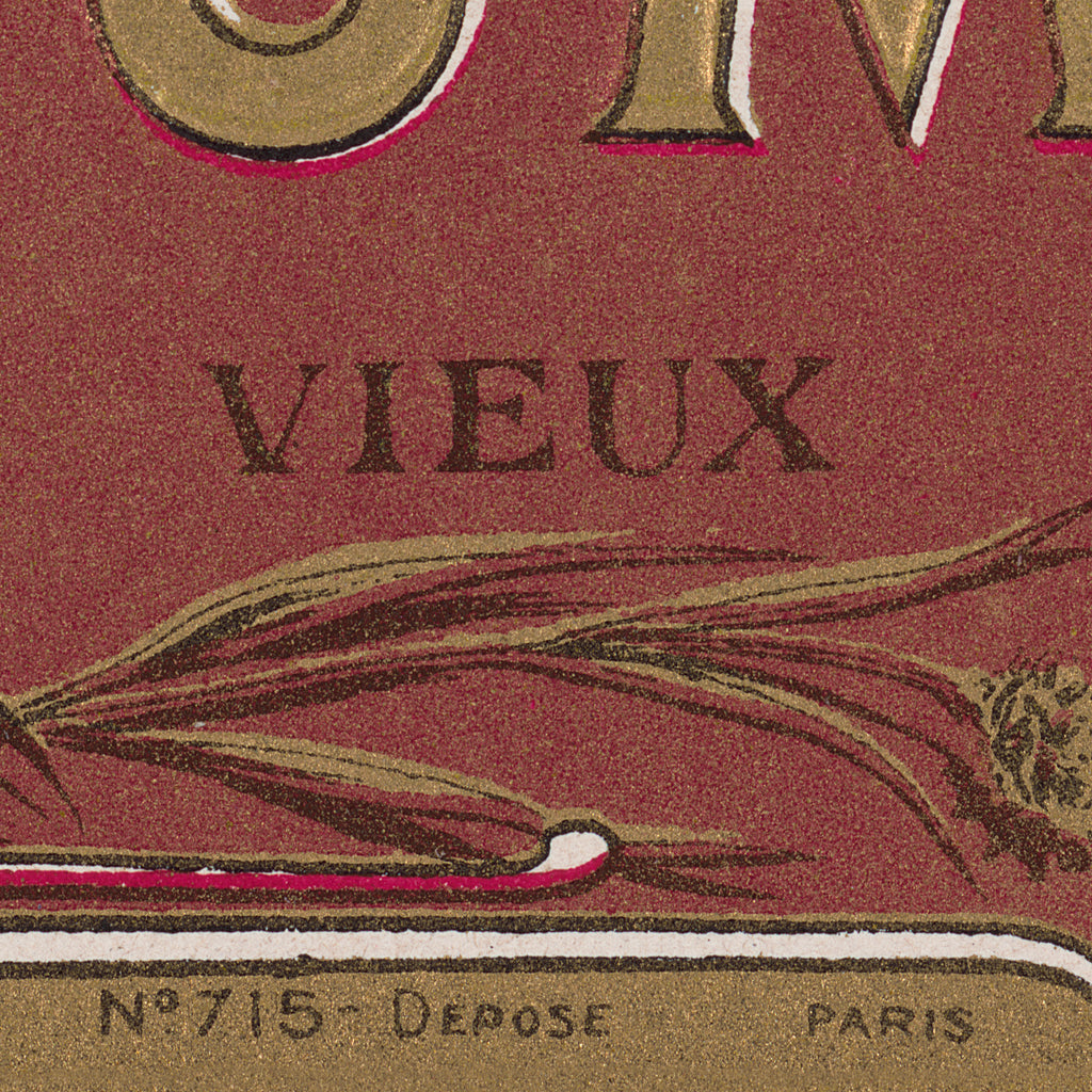 Lithograph of Antique Rum Label from the French West Indies in New Framing