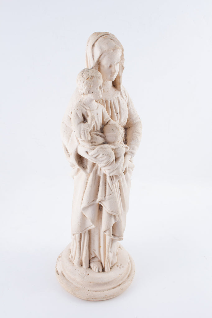 1930s French Plaster Mary Statue